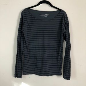 Anthropologie X Imrie 3/4 Sleeve Striped Shirt